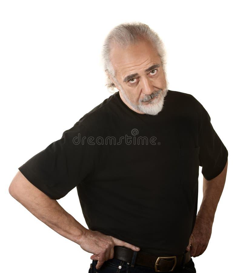 Homme plus âgé frustrant image stock