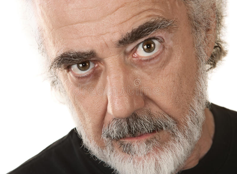 Homme plus âgé sérieux photo libre de droits