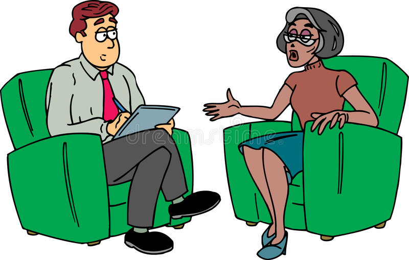 Homme prenant des notes avec la dame illustration libre de droits