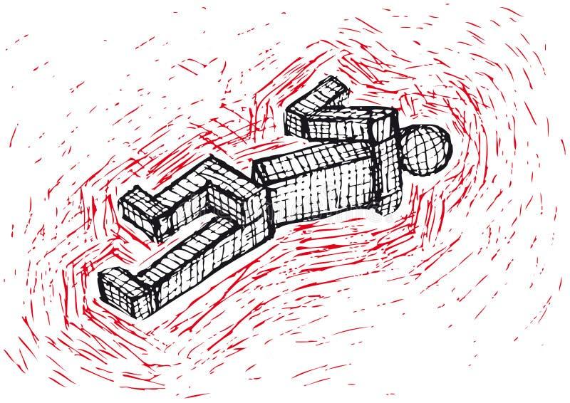 Homme réduit en fragments (vecteur) illustration de vecteur