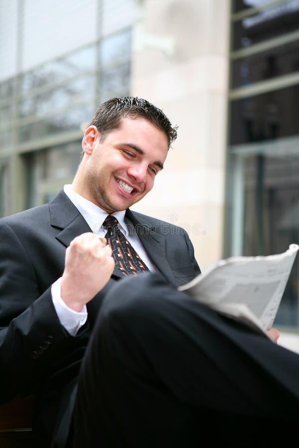 Homme réussi d'affaires photo stock