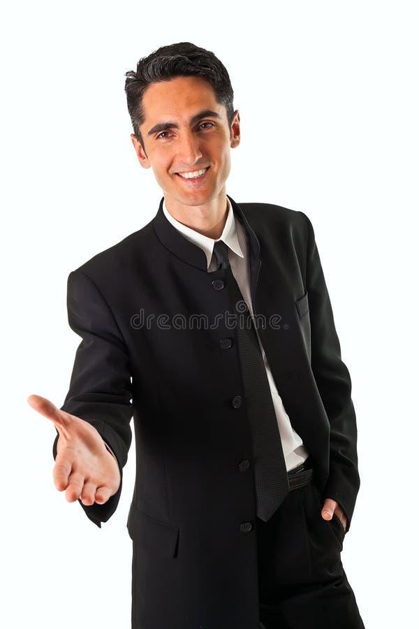 Homme réussi de sourire d'affaires de jeunes photo libre de droits