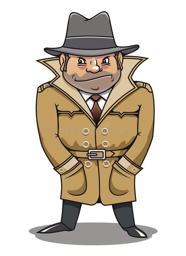 Homme révélateur d'agent ou d'espion illustration stock