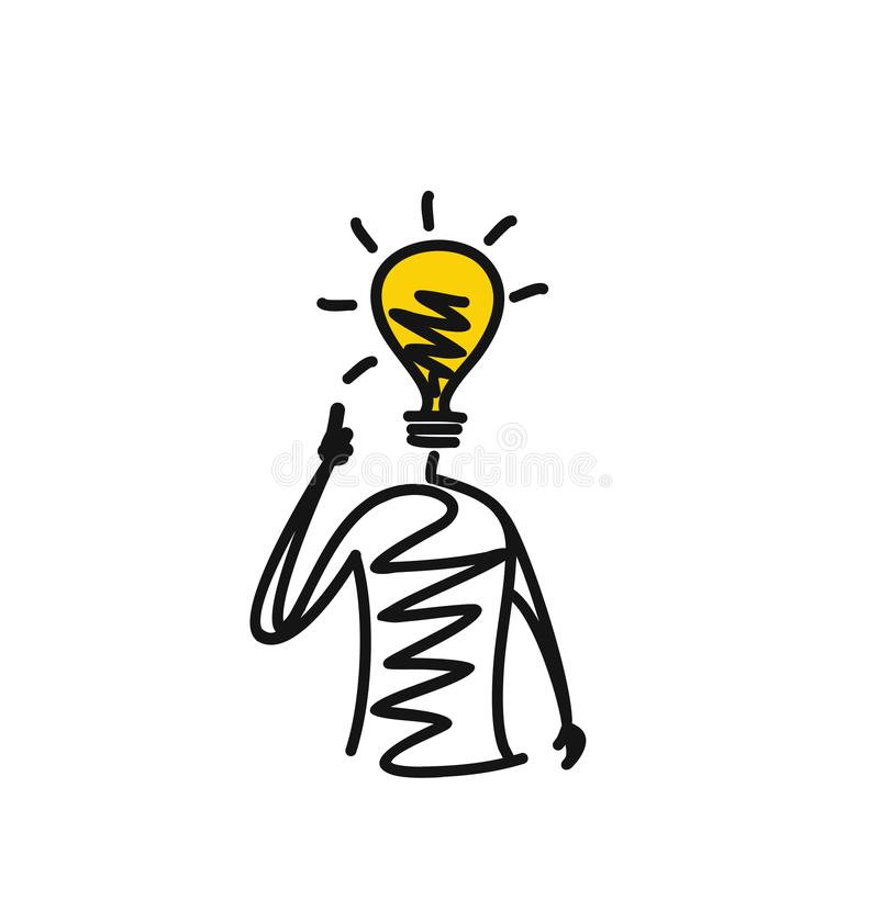 Homme regardant l'ampoule légère d'idée illustration stock