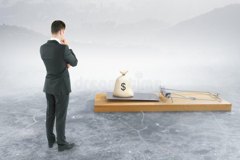 Download Homme Regardant La Souricière à Clapet Avec L'argent Illustration Stock - Illustration du devise, illustration: 77159998