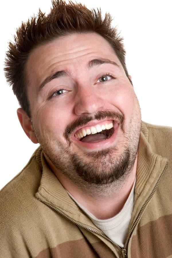 Homme riant photographie stock libre de droits