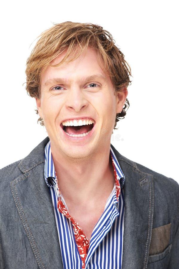Homme riant image libre de droits