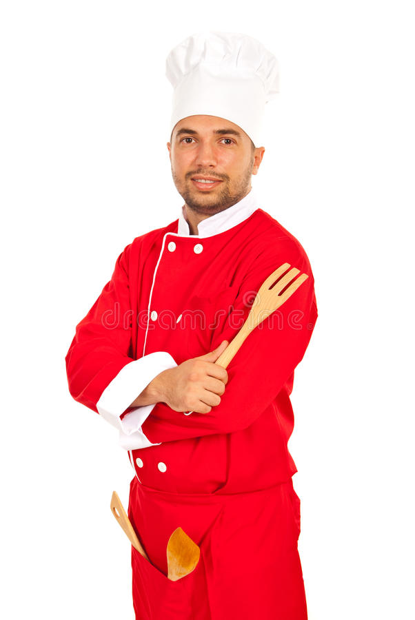Homme sûr de chef photos stock