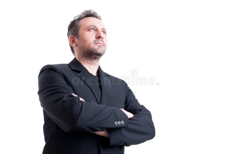 Homme sûr et visionnaire d'affaires images libres de droits