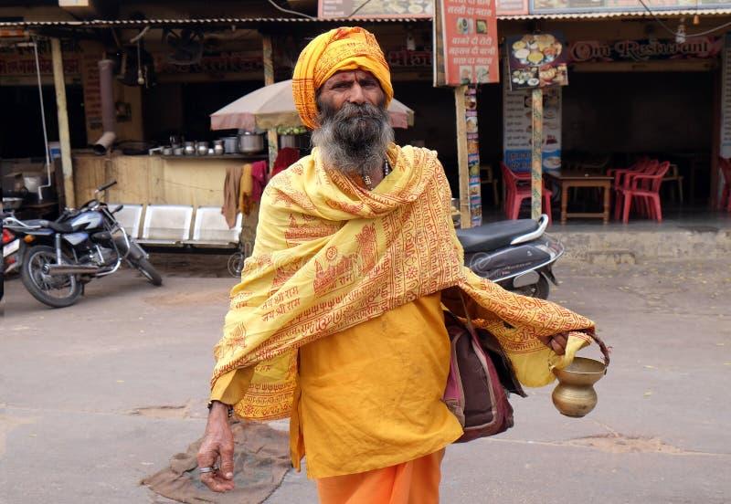Homme saint de sadhu indien photographie stock libre de droits