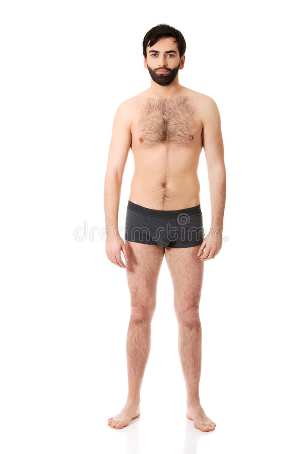 Homme sans chemise de sourire images stock