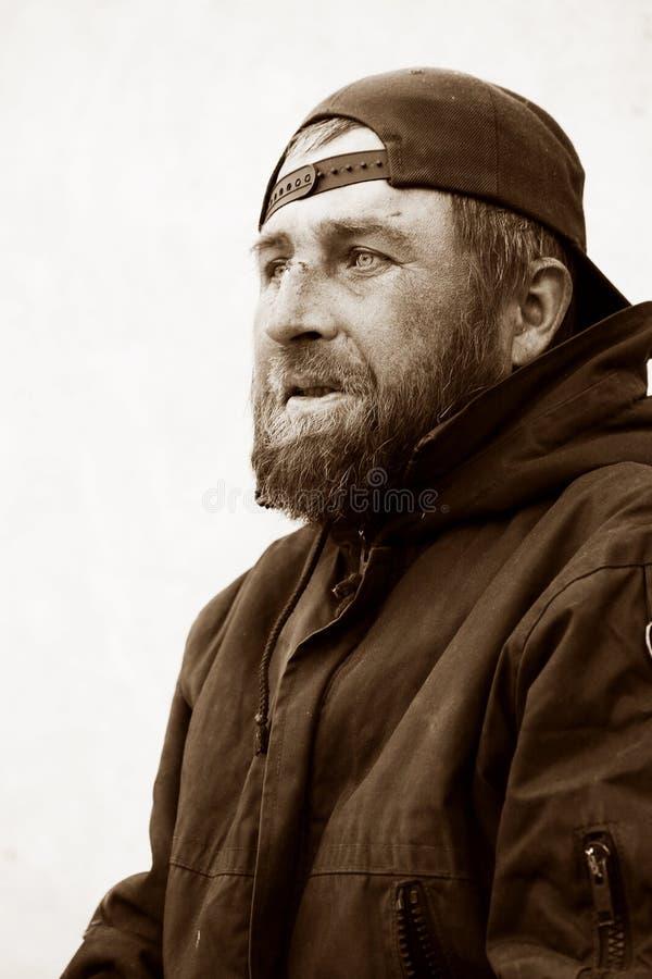 Homme sans foyer. photos libres de droits