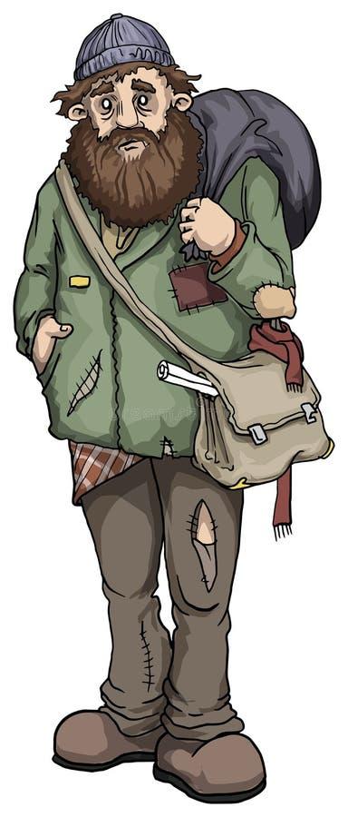 Homme sans foyer illustration de vecteur