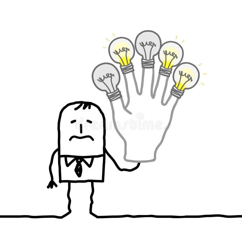 Homme sans plus d'idées ou d'énergie illustration de vecteur
