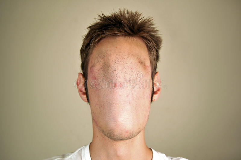 Homme sans visage photo stock