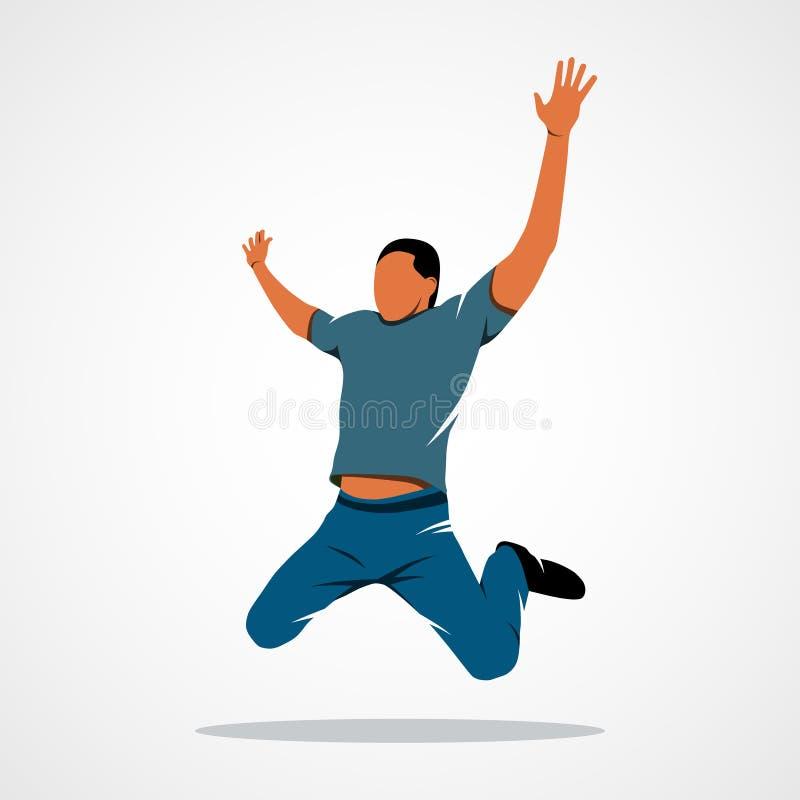 Download Homme, saut, succès illustration de vecteur. Illustration du horizontal - 77161139
