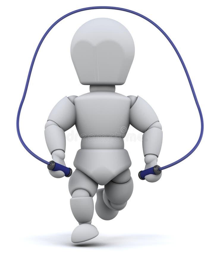 Homme sautant avec la corde de saut illustration libre de droits