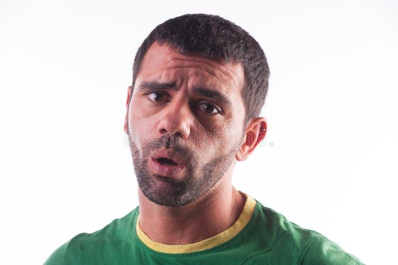 Homme semblant déçu photographie stock