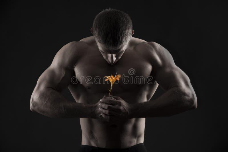 Homme sportif photo stock