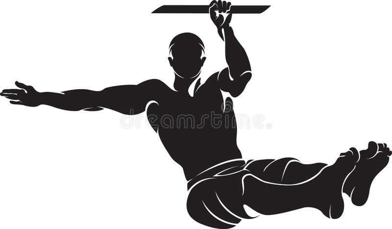 Homme sportif faisant l'exercice de séance d'entraînement de rue illustration stock
