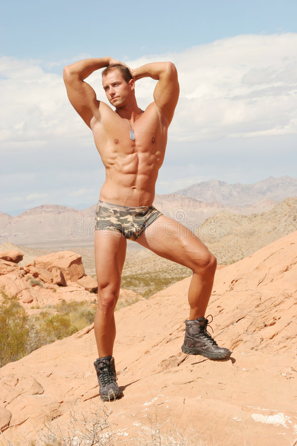 Homme sportif sexy photographie stock