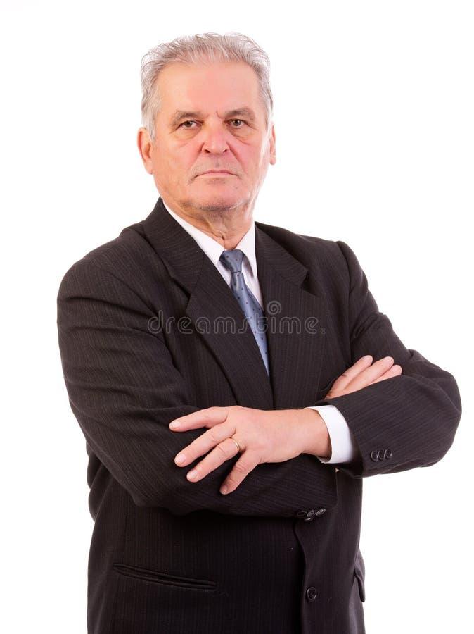 Homme supérieur d'affaires photos stock