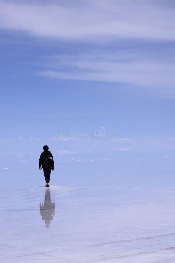 Homme sur l'eau photos libres de droits