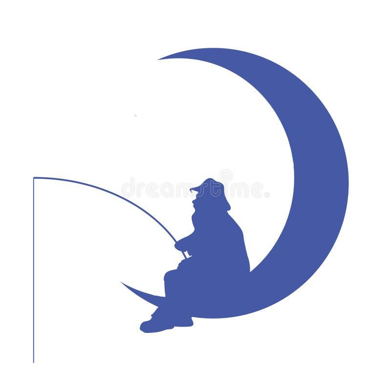 Homme-sur-le-lune photos libres de droits