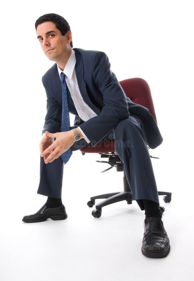 Homme sur une présidence photographie stock libre de droits