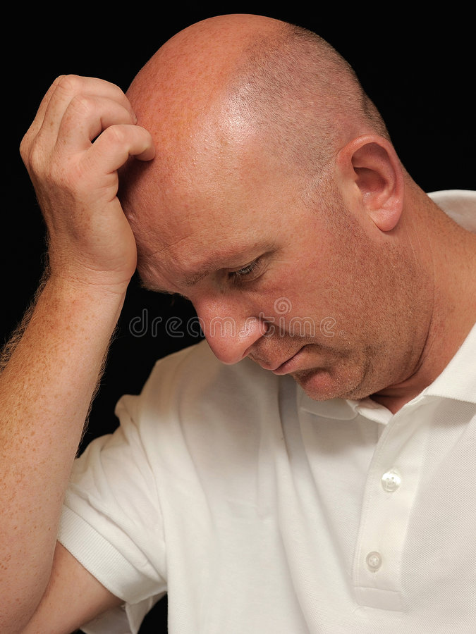 Homme triste image stock
