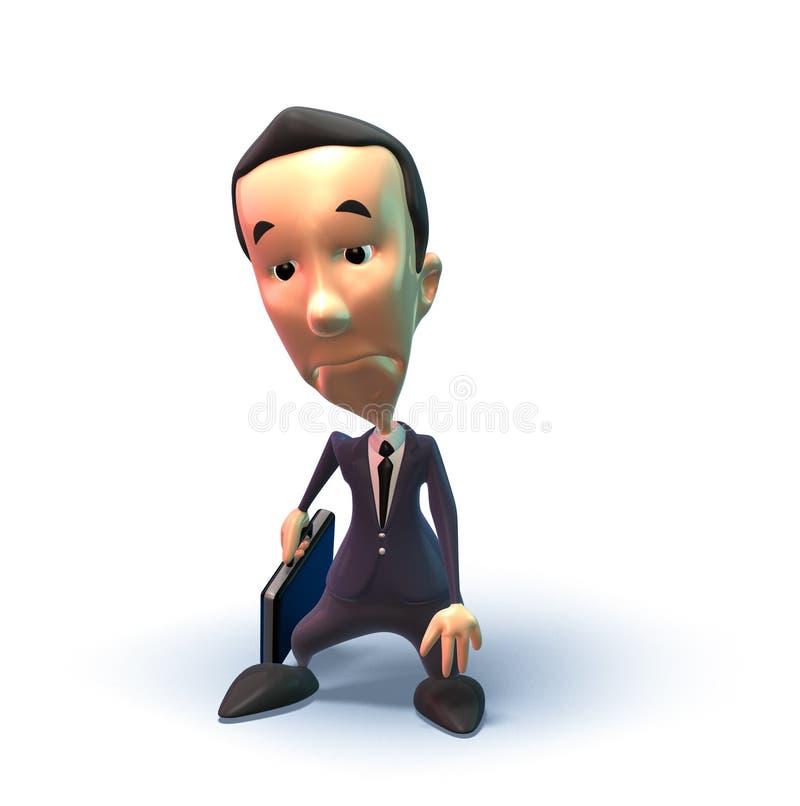 Homme triste d'affaires illustration libre de droits
