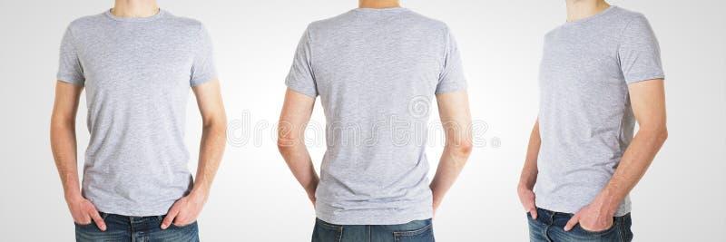 Homme trois dans le T-shirt images stock