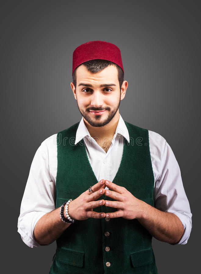 Homme turc bel image stock