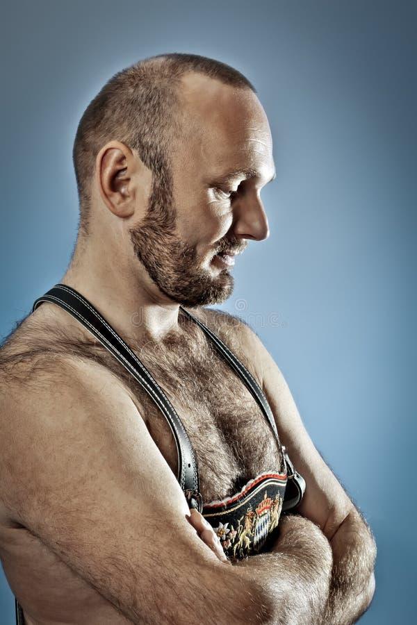 Homme velu avec la barbe photos stock