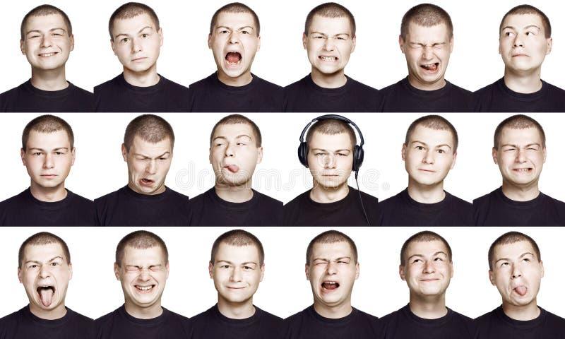 Homme - visage d'émotion images libres de droits