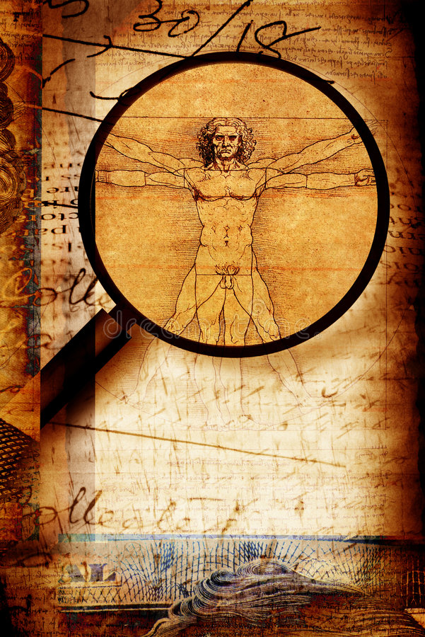 homme vitruvian photographie stock