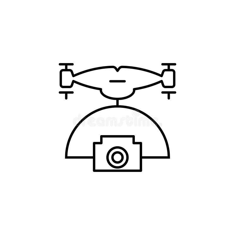 Hommel met camerapictogram Element van hommels voor mobiele concept en Web apps illustratie Dun lijnpictogram voor websiteontwerp royalty-vrije illustratie
