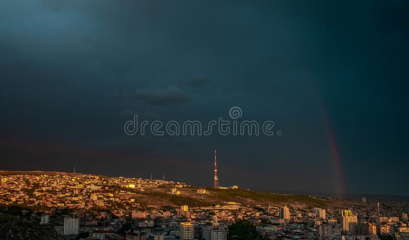 Hommel van Yerevan wordt geschoten die vector illustratie