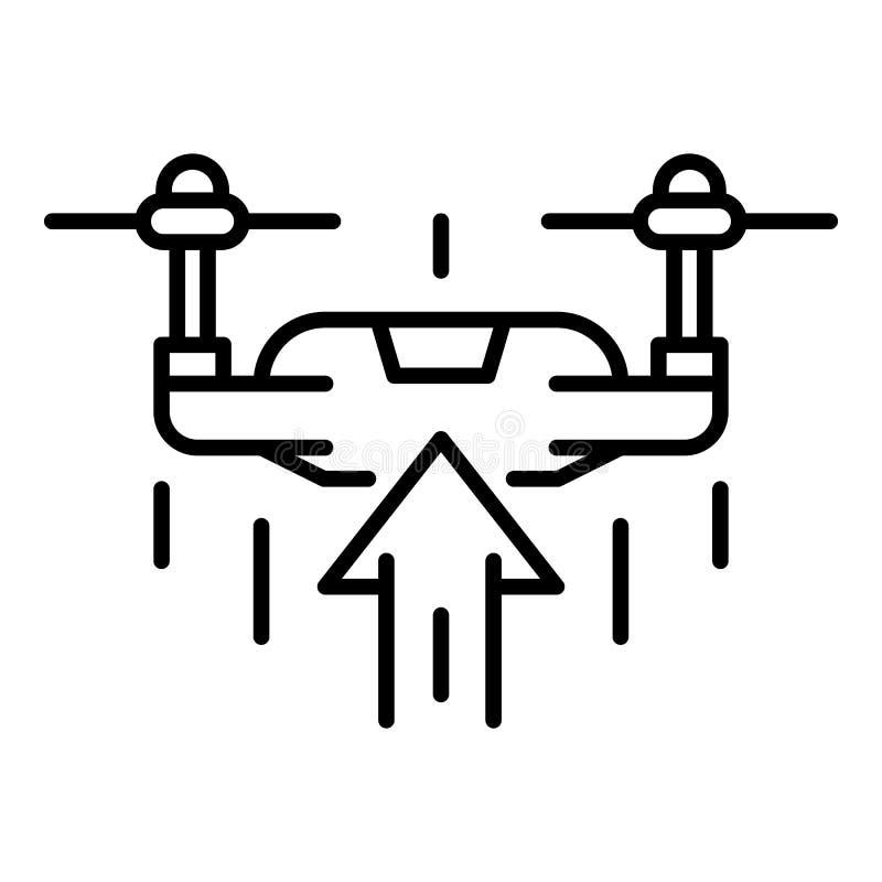 Hommelstijging op pictogram, overzichtsstijl royalty-vrije illustratie