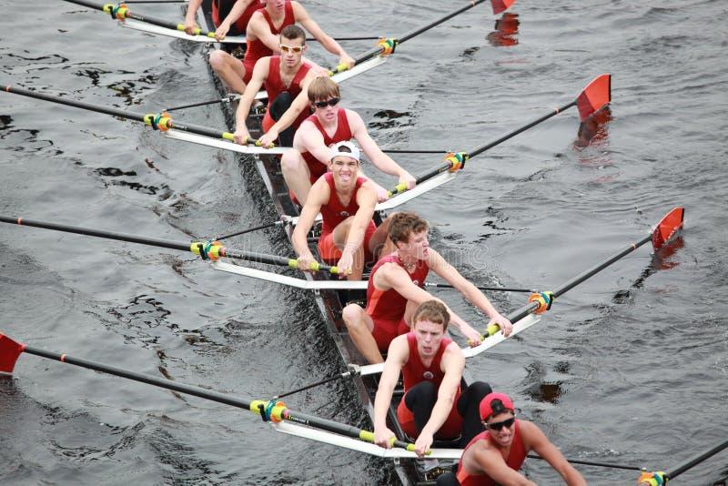 Hommes 18 d'association d'aviron de Wayland-Weston et dessous photo stock