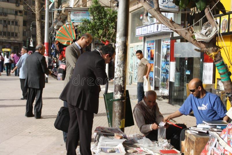 Vendeurs de journaux  images libres de droits