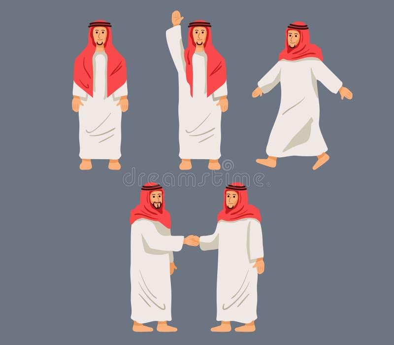 Hommes Arabes de caractère figuratif illustration stock