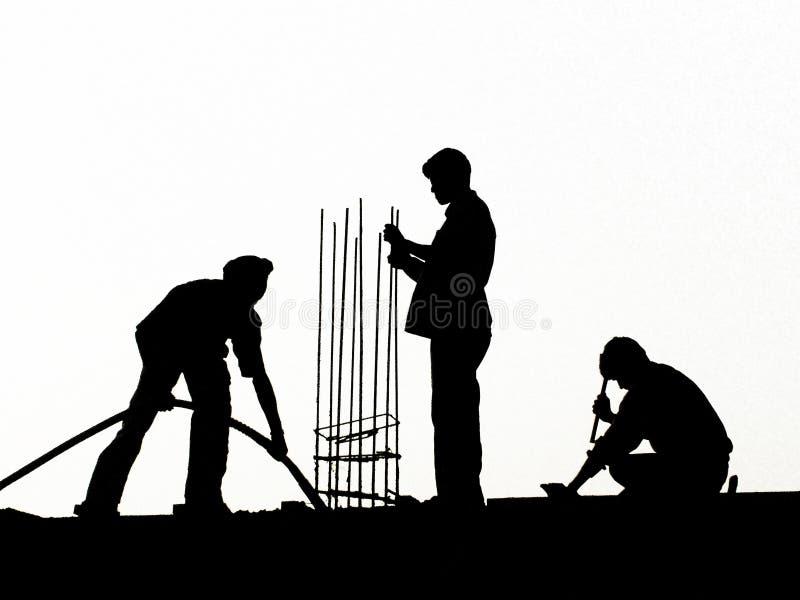 Hommes au travail image libre de droits