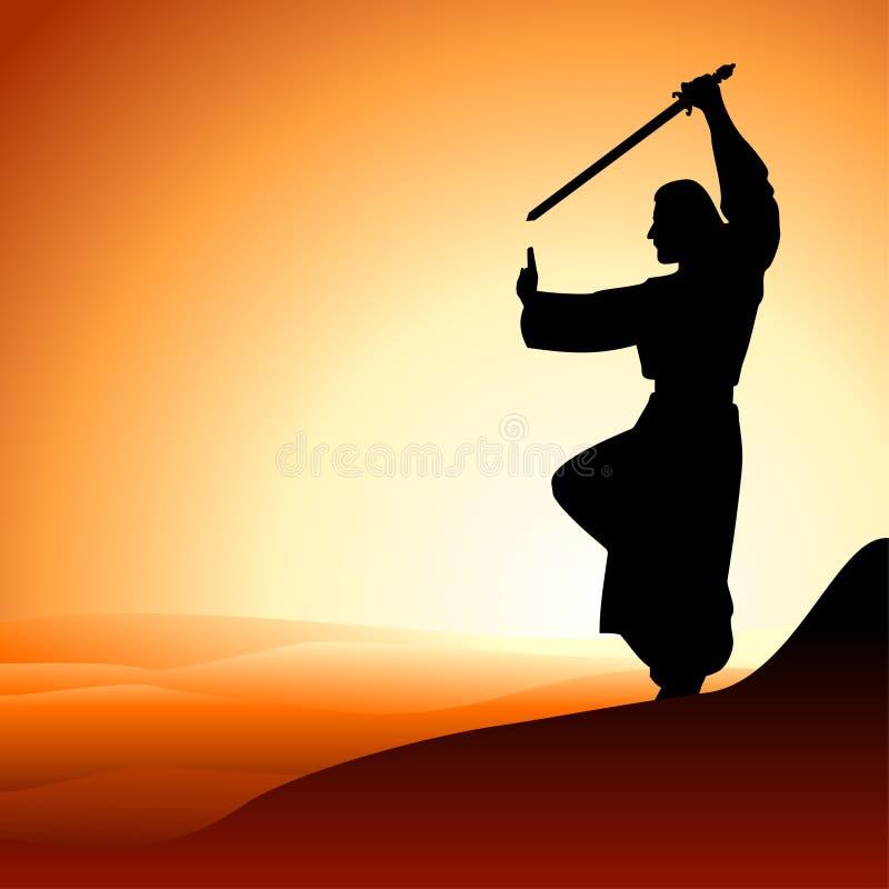 Hommes avec l'épée illustration libre de droits