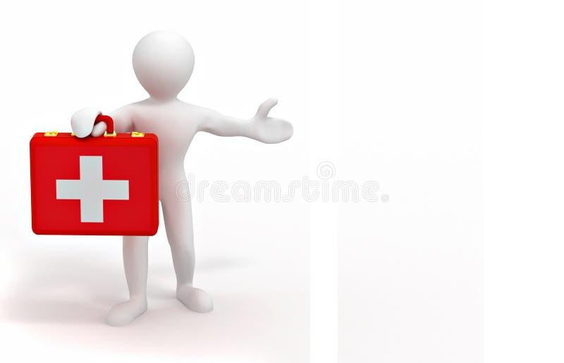 Hommes avec le cas médical illustration libre de droits