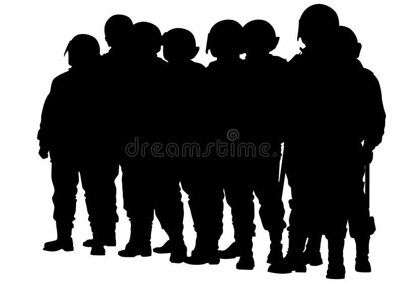 Hommes cinq de police illustration de vecteur