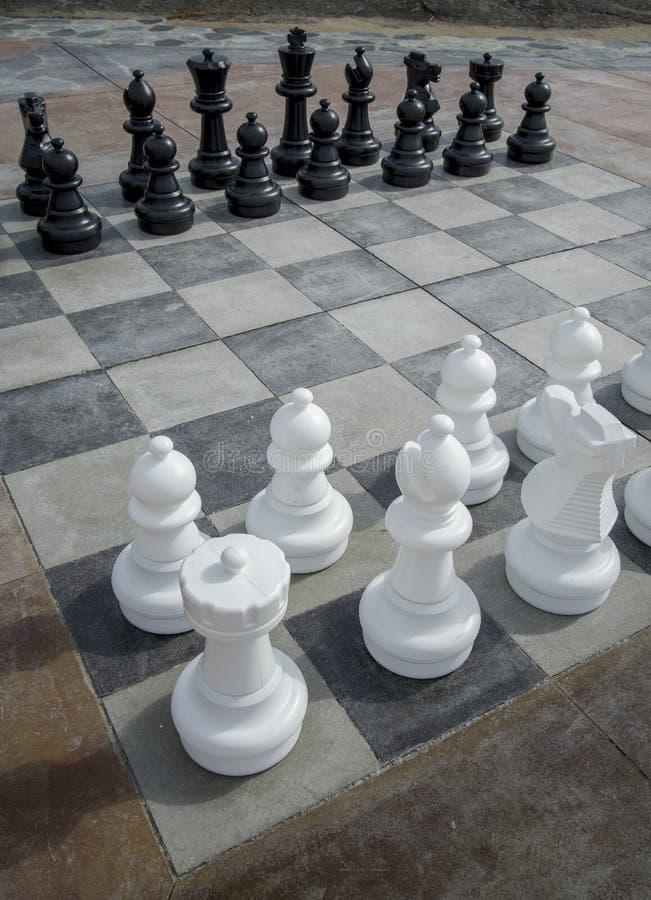 Hommes d'échecs image stock