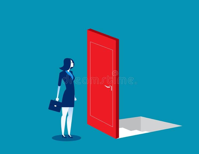 Hommes d'affaires avec des options risquées et incertaines Illustration de vecteur d'affaires de concept Style de caract?re plat illustration de vecteur