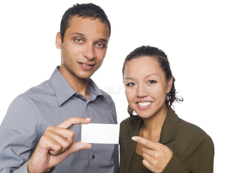 Hommes d'affaires - carte de visite professionnelle de visite images libres de droits