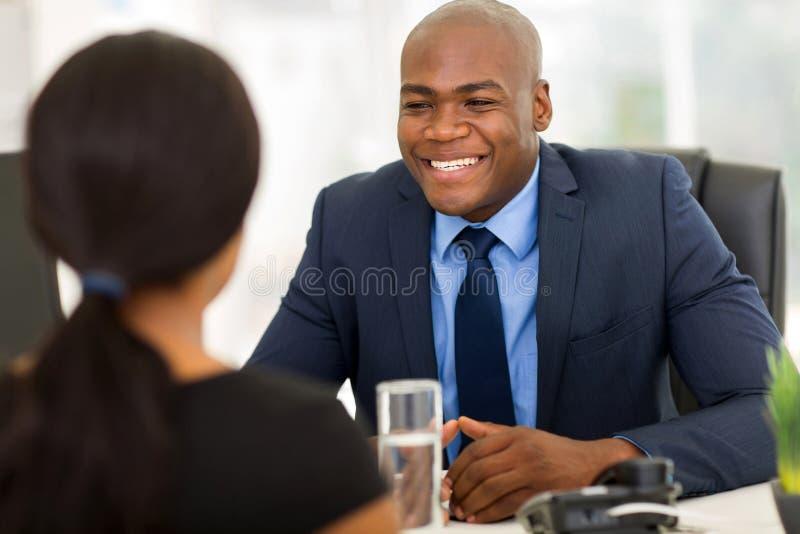 Hommes d'affaires d'afro-américain photo libre de droits